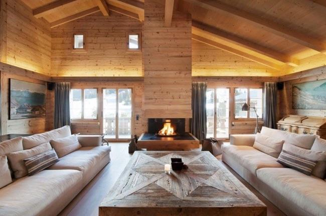 Maison en bois chaleureuse