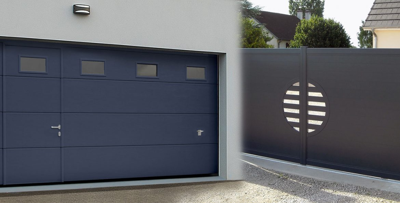 Portails Coulissants Et Portes De Garage Tout Savoir - Porte garage double