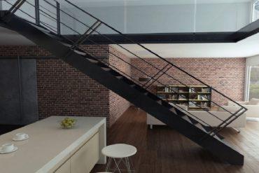 Un escalier industriel pour améliorer le design d'une maison