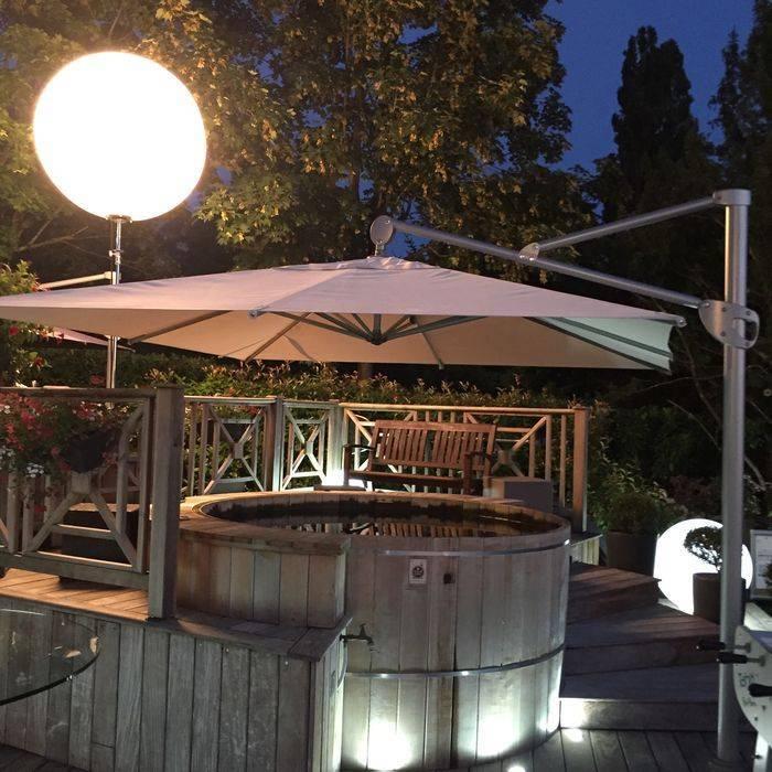parasol déporté jardin